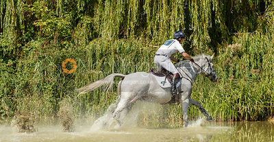Harry Meade and AWAY CRUISING, cross country phase, Land Rover Burghley Horse Trials 2018