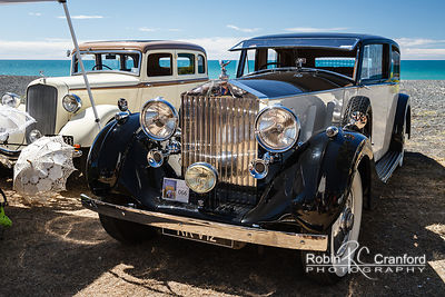 Art Deco Sunday 2015.  1937 Rolls Royce Phantom.  License Plate RR V12