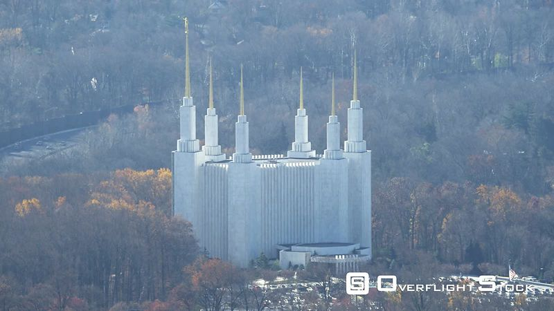 Washington DC Mormon Temple in Kensington, Maryland. Shot in November