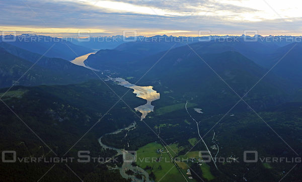 Town of Slocan and Valley Selkirk Mountains BC