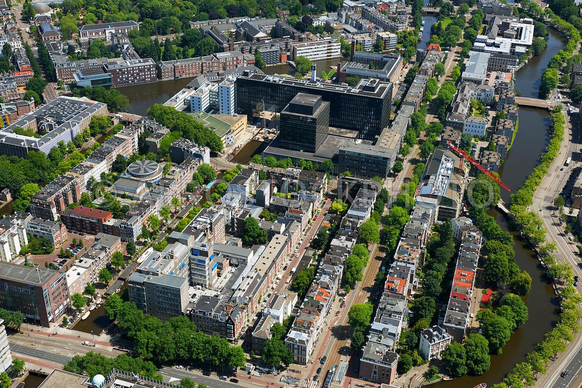 aerial view | Sarphatistraat and University of Amsterdam