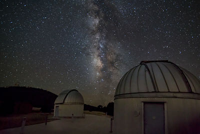 Small Observatories with a Milky Way Background.