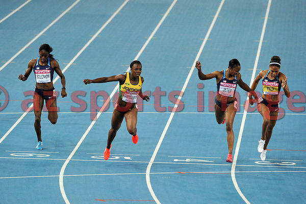 Veronica Cambell-Brown from Jamaica wins the 200m 22.22sec. followed by the two Americans Carmelita Jeter 22.37sec. in second...