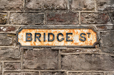 Bridge street sign
