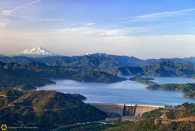 Mt. Shasta and Shasta Dam from the Air #1