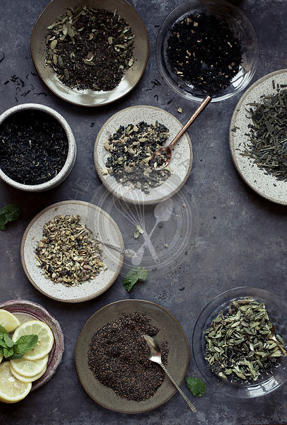 Various tea leaves