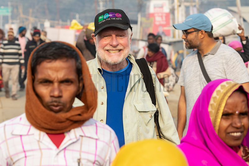 Lawrence Manning at the 2019 Kumbh Mela