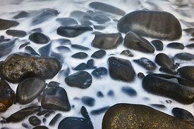 Rocks being washed by the waves