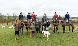 Family gathering at the meet. The Cottesmore Hunt at Newbold Farm 16/2