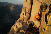 Photo alpinisme dans les montagnes de  YosemiteCrepuscule sur Big Sandy ledge