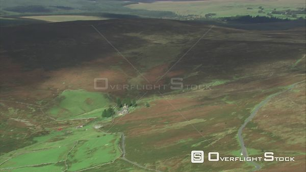 Aerial view of Headland Warren, Dartmoor National Park, Devon, England, UK, October 2015.