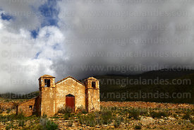 Abandoned church near Chorcoya, Cordillera de Sama Biological Reserve, Bolivia