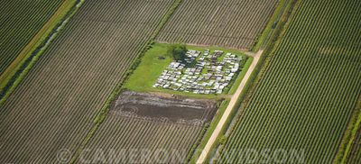 Aerial Photo Louisiana, Cemetery
