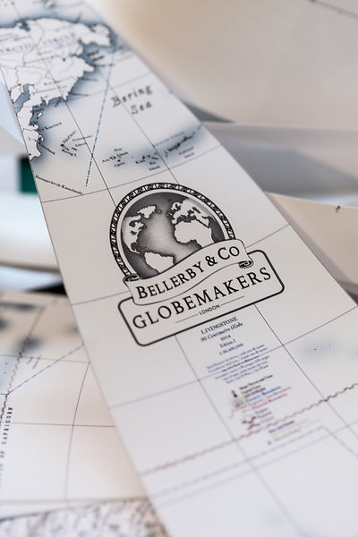 UK - London - Hand painted globe details at Bellerby and Co. Globemakers