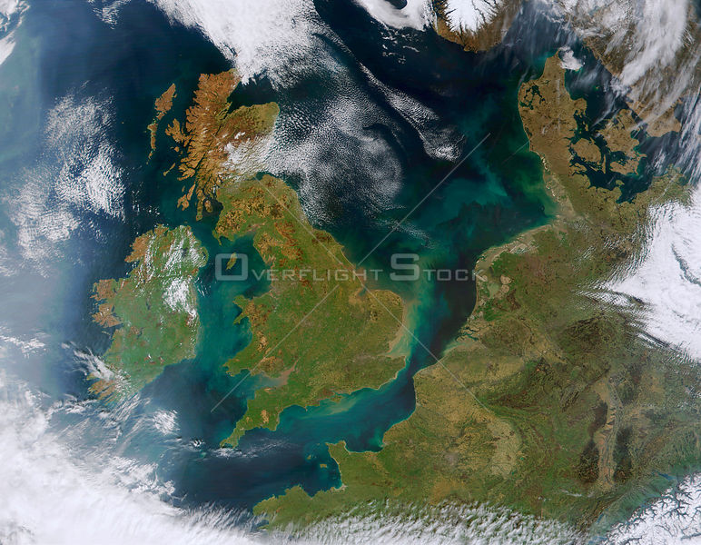 EARTH Western Europe -- 06 Apr 2002 -- This true-color MODIS image showcases Northern Europe. Shown are the United Kingdom, t...