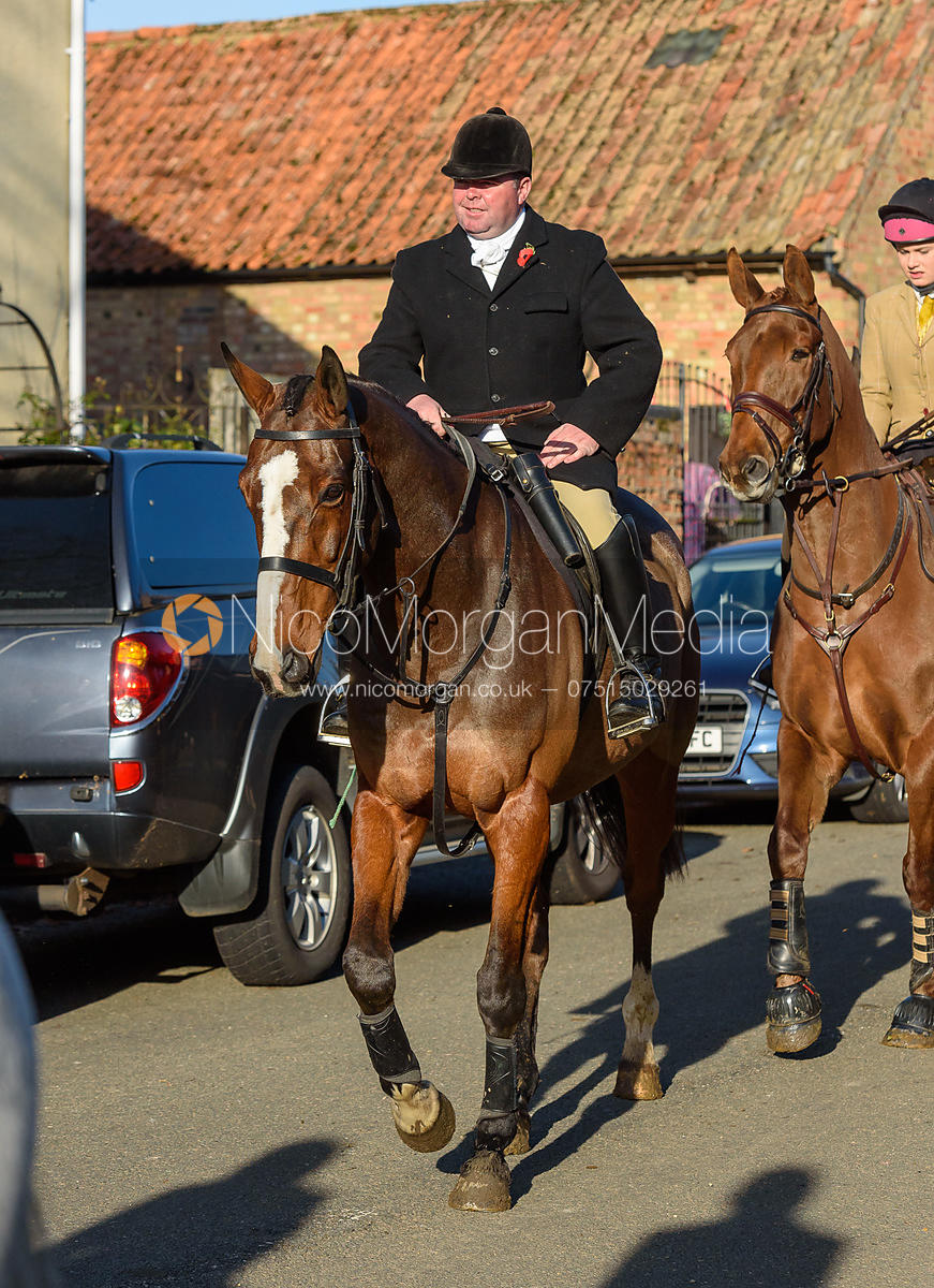 George Kennedy leaving the meet in Great Gidding