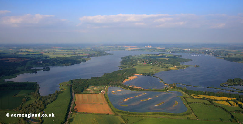 Rutland Water from the air