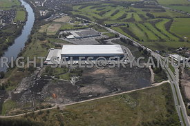 Culina Group high level view of the new Distribution centre and Macro Liverpool Road Eccles