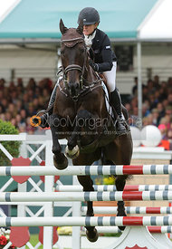 Jonelle Richards and THE DEPUTY - show jumping phase, Burghley Horse Trials 2013.