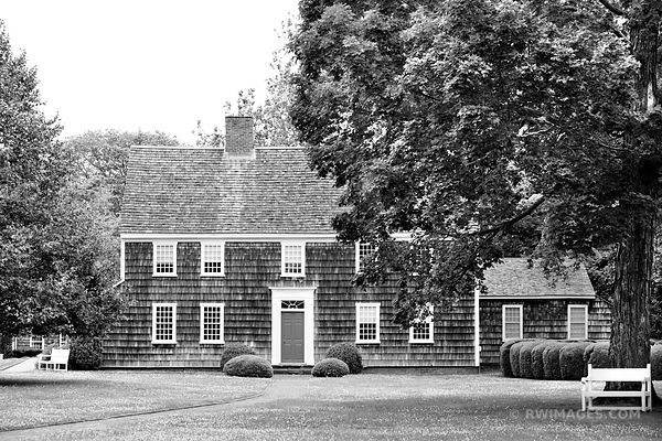 CUSTOM HOUSE SAG HARBOR HISTORIC LONG ISLAND NY BLACK AND WHITE