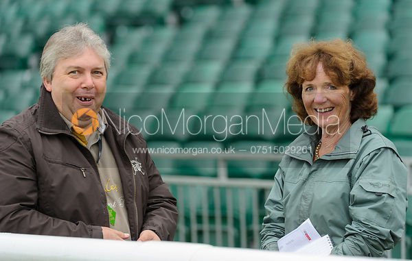 Andrew Baldock and Jenny Macarthur - dressage phase,  Land Rover Burghley Horse Trials, 6th September 2013.
