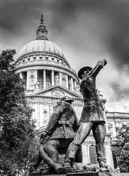 Blitz firefighters memorial grainy black and white version