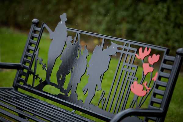British Legions Remembrance bench
