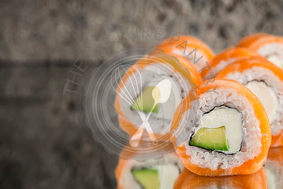 Philadelphia roll with avocado