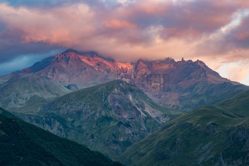 Mount Kazbegi at Sunrise