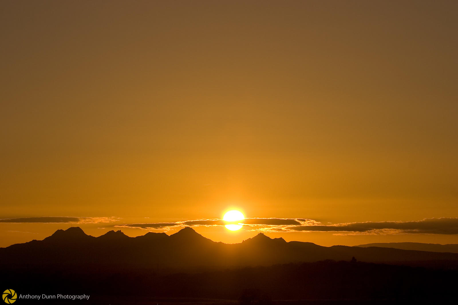 Sunset over the Sutter Buttes #2
