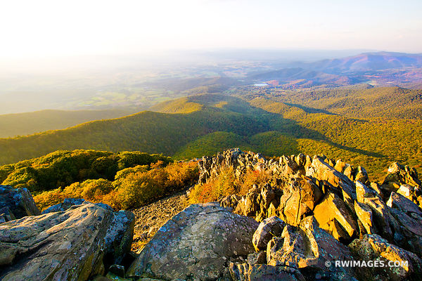 STONY MAN MOUNTAIN SUNSET SHENANDOAH NATIONAL PARK VIRGINIA LANDSCAPE