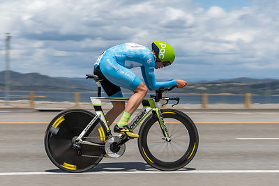 Toms Skujiņš (Cannondale Pro Cycling) passes by an almost full Folsom Lake one day after winning stage 5 of the Amgen Tour of...