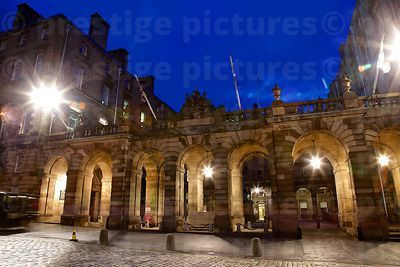 The Entrance to The City Chambers Seen through the Groin Vault Arches on The Royal Mile