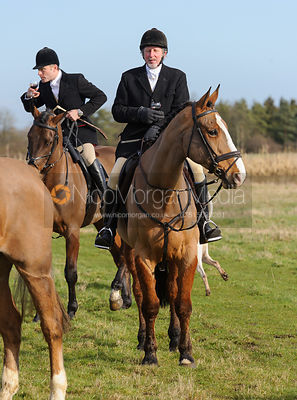 The Cottesmore and Fitzwilliam Hunts at Witham on the Hill