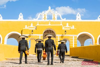 Traditional Mariachi group in Izamal, Yucatan, Mexico
