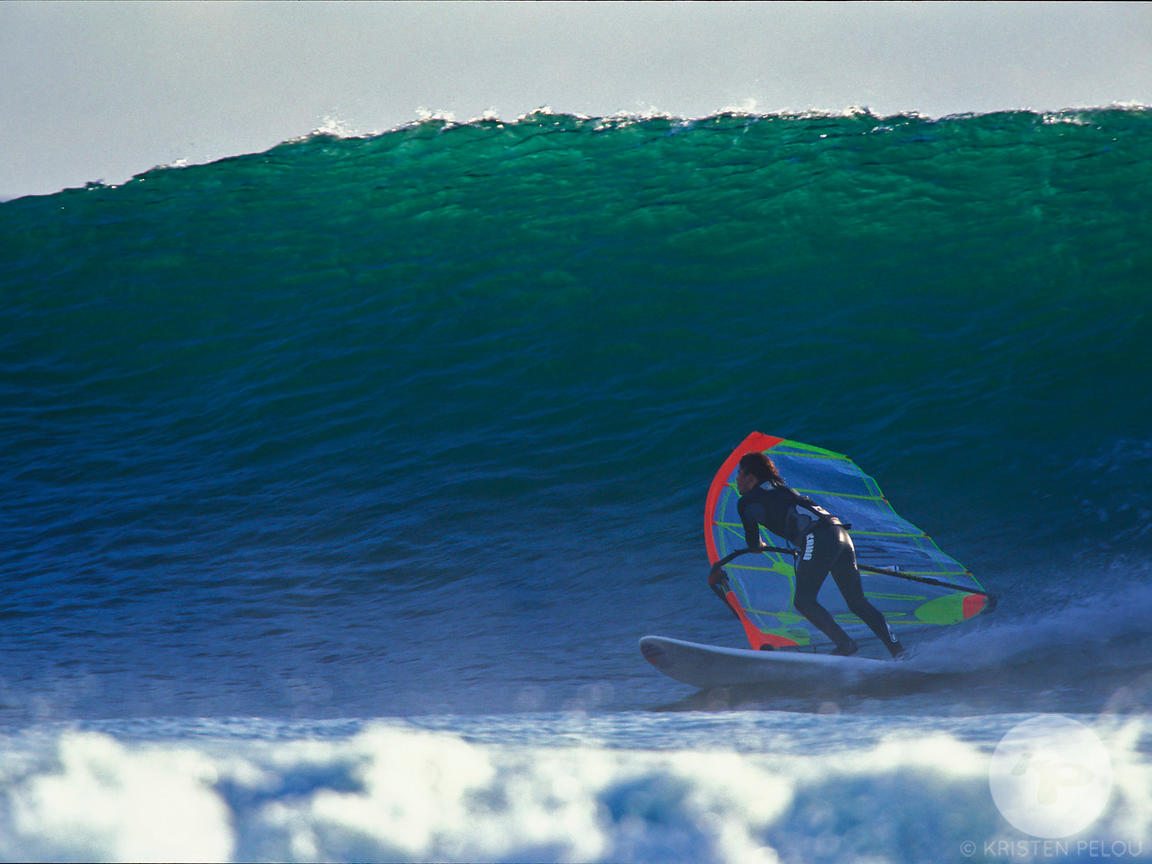 Windsurfing in Audierne, Brittany, France