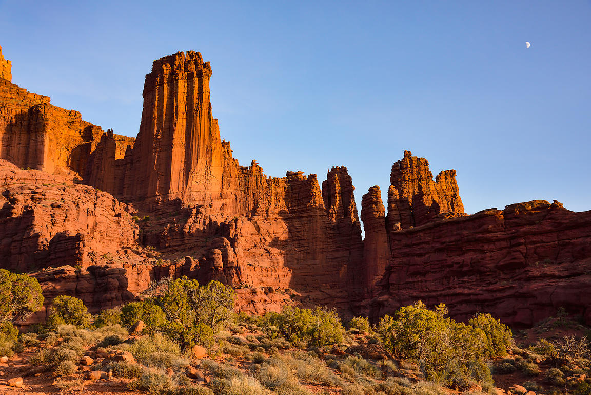 Fisher Towers, Moab, UT, USA