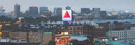 Boston Skyline Aerial Panorama Photo