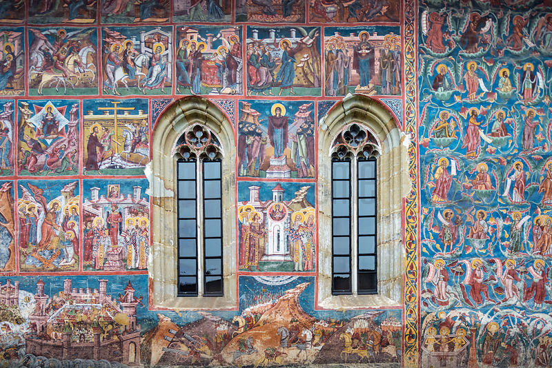Details of the Painted Church Of The Annunciation