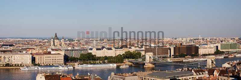 Elevated view of the Budapest Skyline