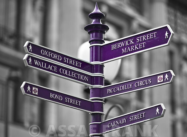 Oxford Circus Sign Post