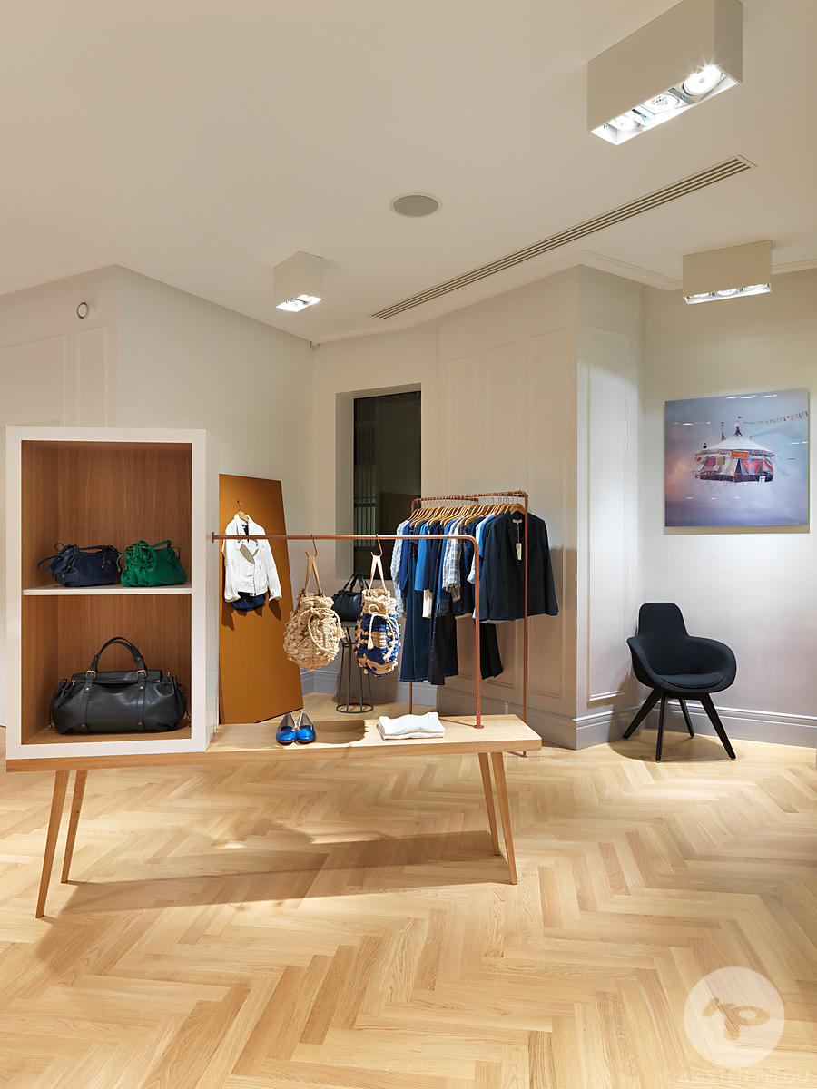 Retail architecture photographer - Gerard Darel store, rue Reaumur, Paris, France. Photo ©Kristen Pelou