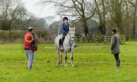 Followers at the meet - The Cottesmore Hunt at Pickwell 21/12