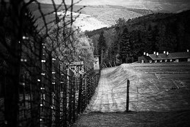 Camp Struthof Natzweiler Along the entrance fence