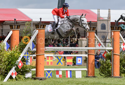 Tiana Coudray and RINGWOOD MAGISTER - Show Jumping phase, Mitsubishi Motors Badminton Horse Trials 2014