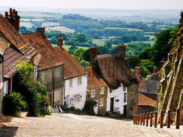 Cottages on a Hill, Shaftesbury, England