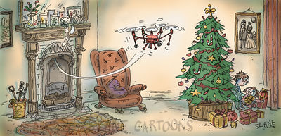 Santa Drone Searches House for Kids