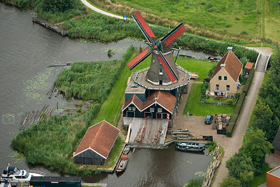 In IJlst in the province of Friesland stands by the river Geeuw the sawmill called the Rat, which is still in production.
