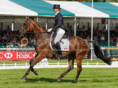 Rebecca Howard and RIDDLE MASTER - dressage phase,  Land Rover Burghley Horse Trials, 5th September 2013.