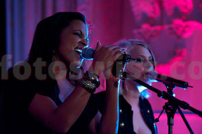 Fabienne Louves im Hotel Kronenhof in Pontresina . Voices on Top in Pontresina